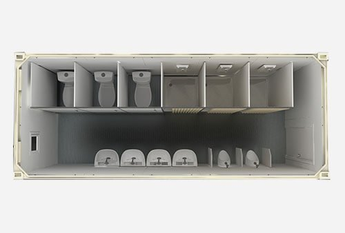 flat pack ablution shipping container
