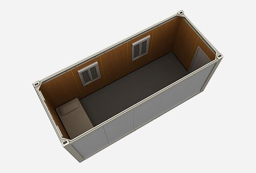 flat pack modular office shipping container