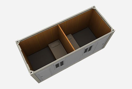 flat pack twin sharing cabing shipping container